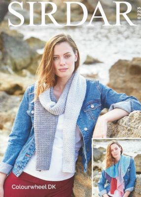 Sirdar Colourwheel DK - 8223 Scarves Knitting Pattern
